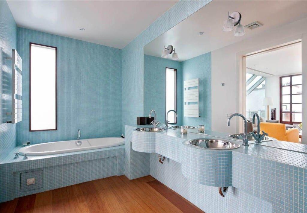 color moderno bano azul