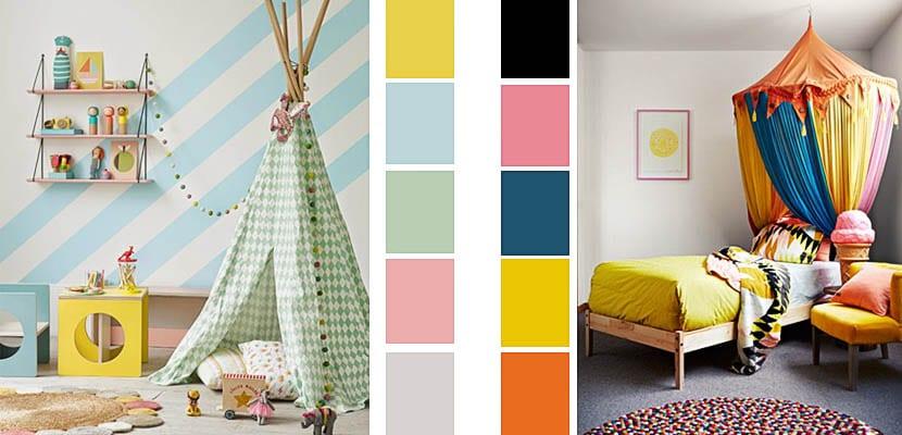 Paletas de color para decorar dormitorios infantiles - Combinacion colores habitacion ...