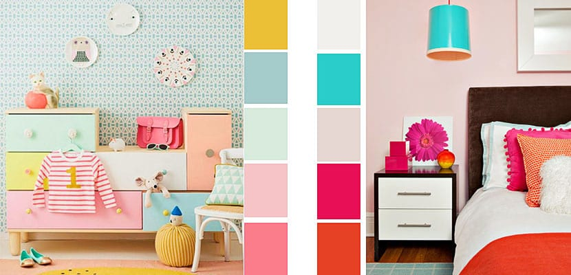 Paletas de color para decorar dormitorios infantiles