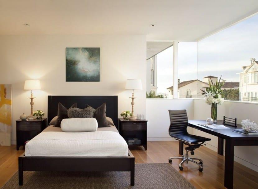 dormitorio con despacho