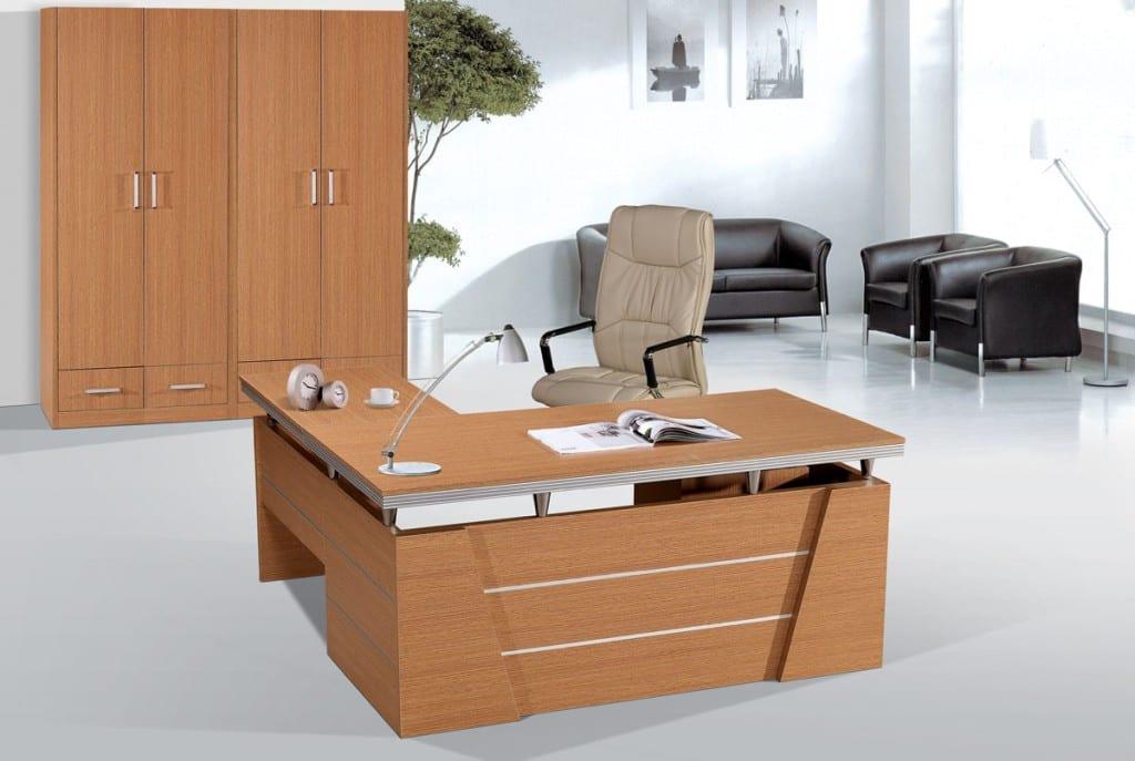 Escritorios de melamina para la oficina for Escritorios de madera para oficina