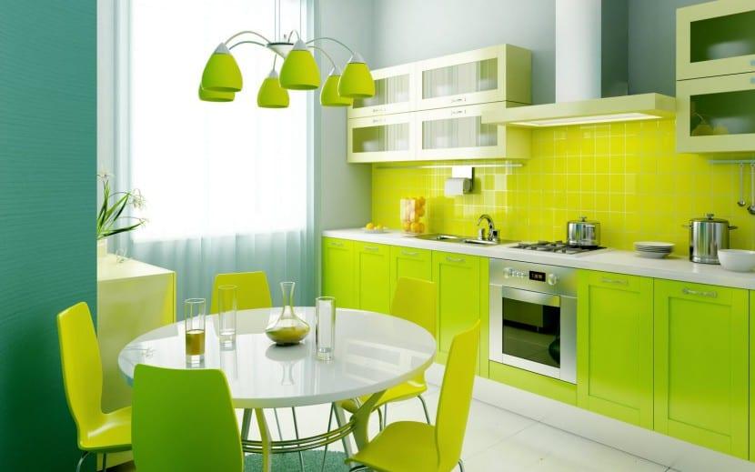 El color verde en la cocina