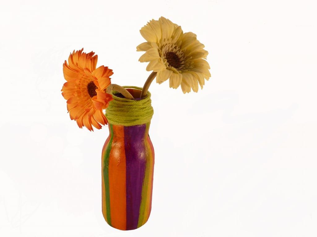 floreros reciclados DIY