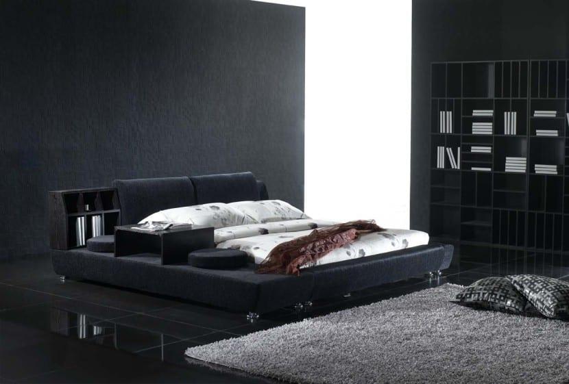 habitación color negro