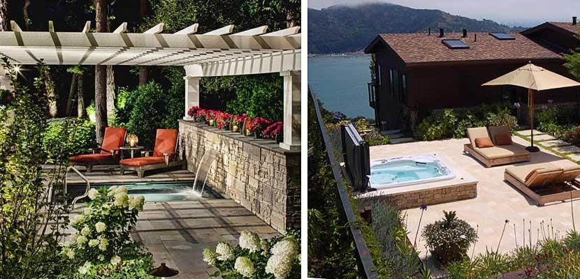 Ideas para instalar un jacuzzi en la terraza o jard n for Decoracion de la pared para el exterior