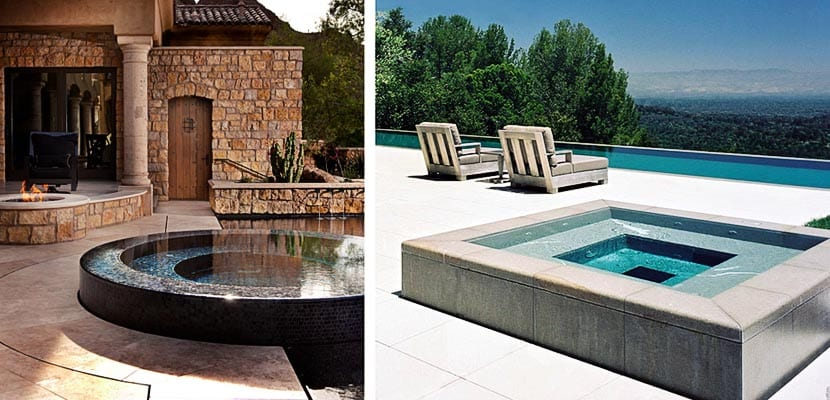 Ideas para instalar un jacuzzi en la terraza o jard n for Jacuzzi piscina exterior