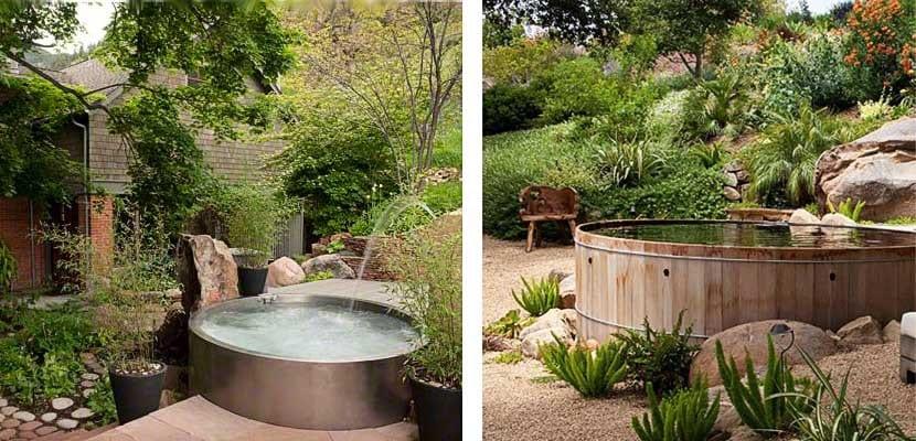 Ideas para instalar un jacuzzi en el exterior de tu hogar for Jacuzzi jardin segunda mano exterior