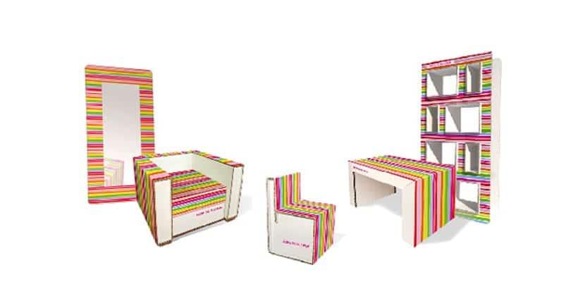 Muebles de cart n de agatha ruiz de la prada - Muebles de carton ...