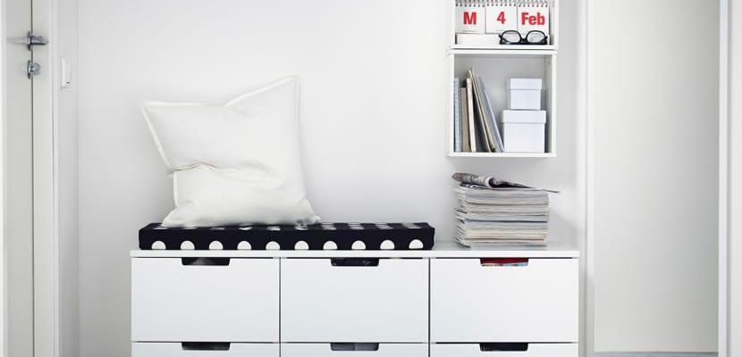 Recibidor de Ikea estilo nórdico