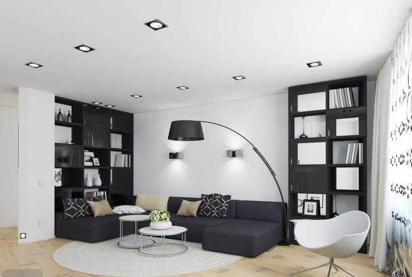 Ideas para decorar con muebles negros for Muebles para decorar living