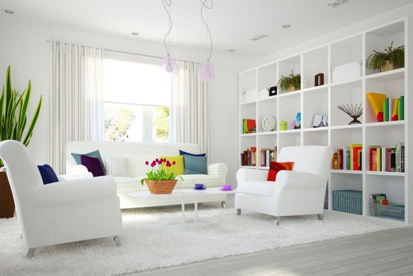 salon decorado blanco