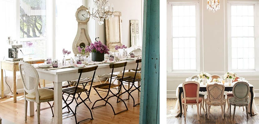 Comedor con sillas Luis XV