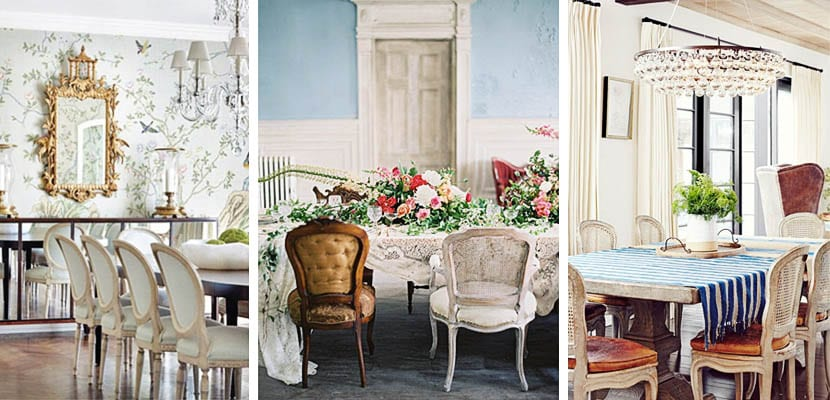 Decorar con sillas de estilo luis xv el comedor - Comedores clasicos ...