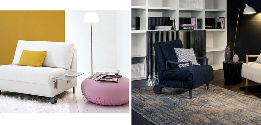 Sof s cama modernos para tu despacho for Sillon cama pequeno
