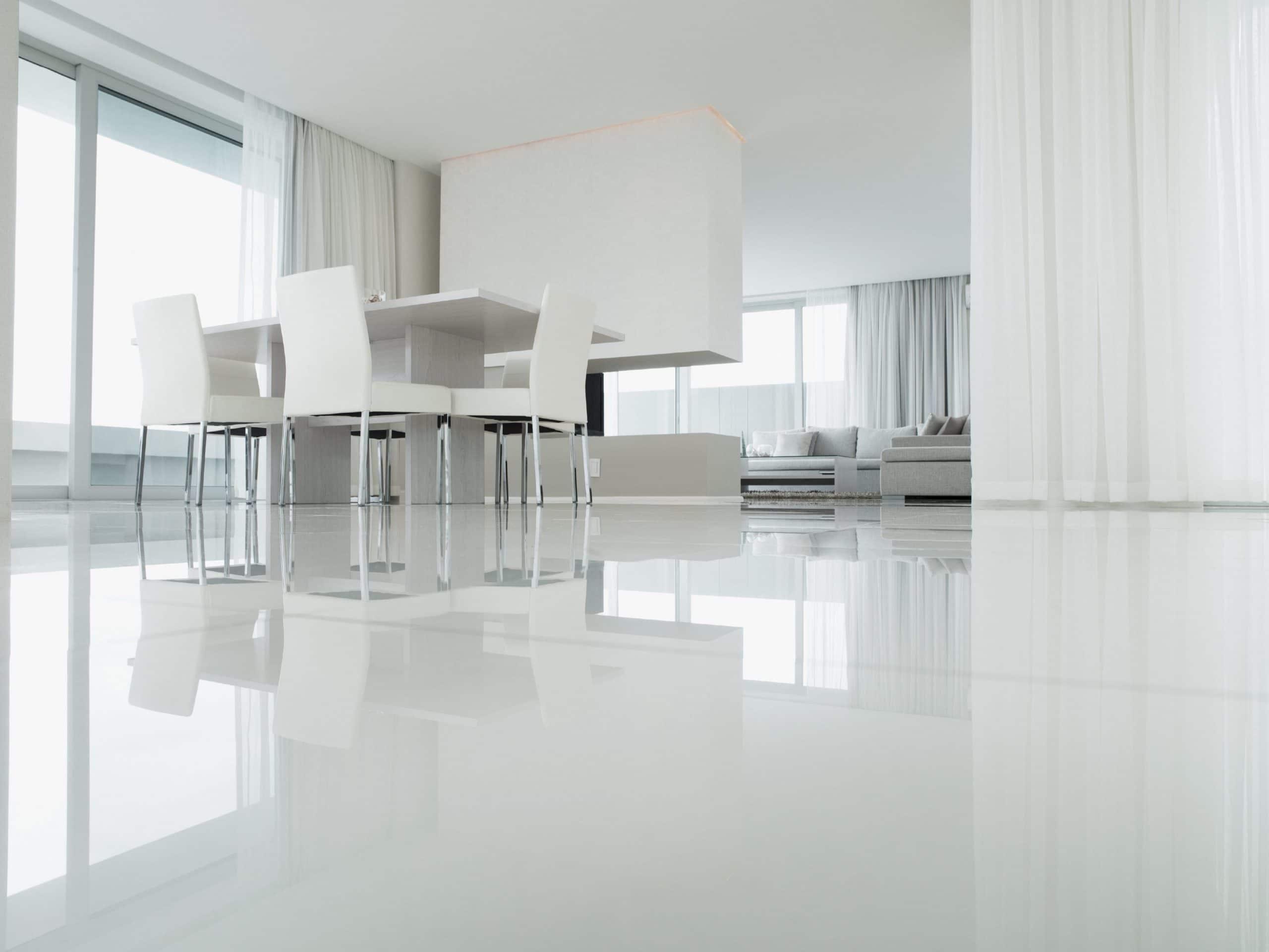 Suelos en blanco para tu hogar - Suelo parquet blanco ...