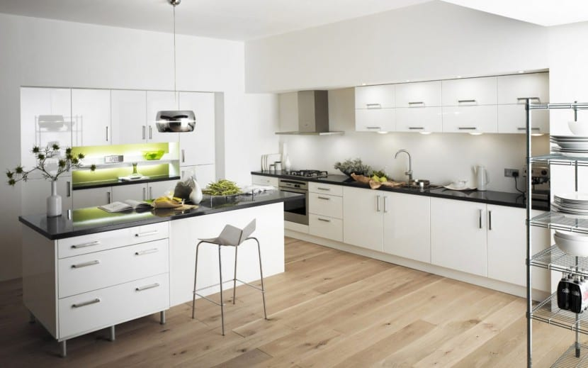 suelos madera cocina