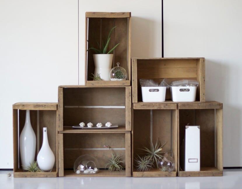 Formas inteligentes de decorar con cajas de madera - Cajas de madera para decorar ...