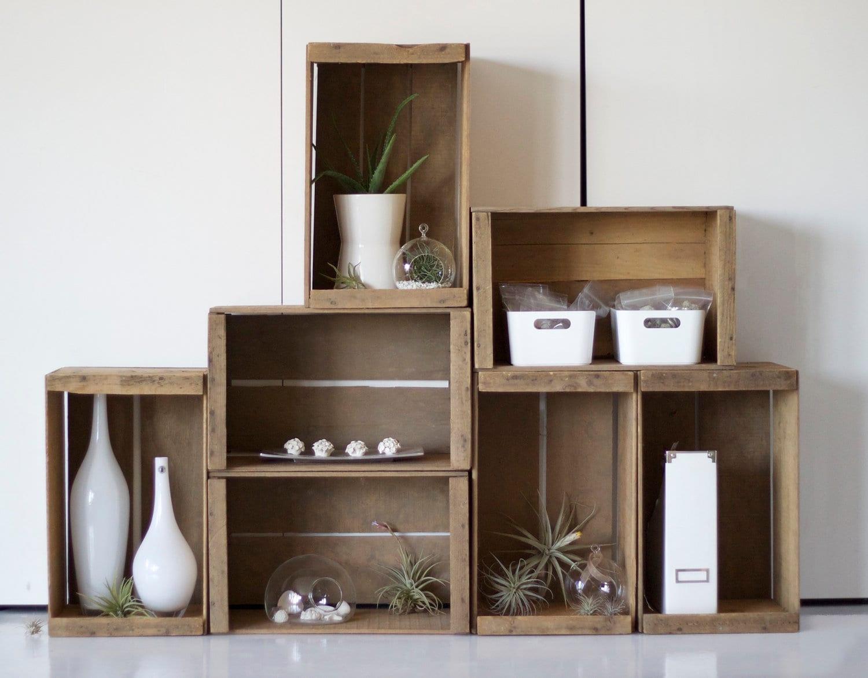 Formas inteligentes de decorar con cajas de madera