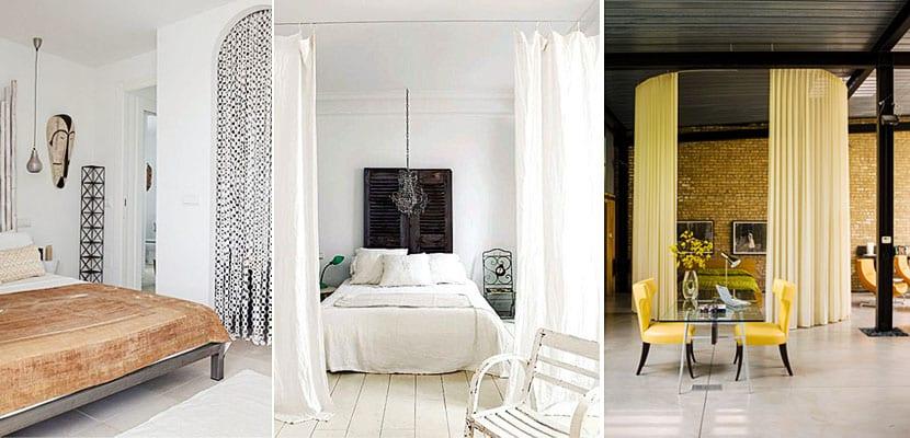 Utiliza cortinas para separar diferentes ambientes en tu hogar for Separar ambientes