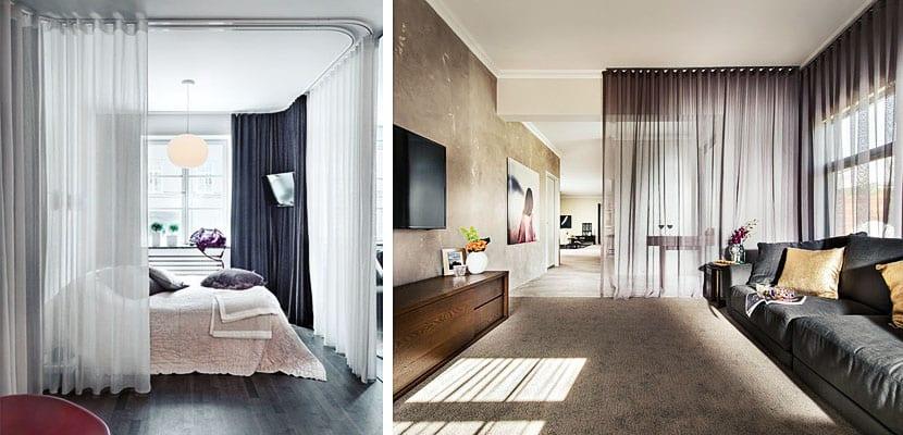 Utiliza cortinas para separar diferentes ambientes en tu hogar - Cortinas separadoras de ambientes ...