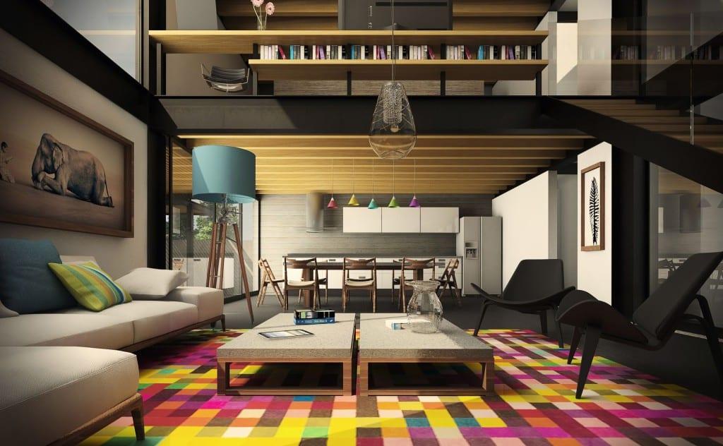 estilo moderno con mexicano colores