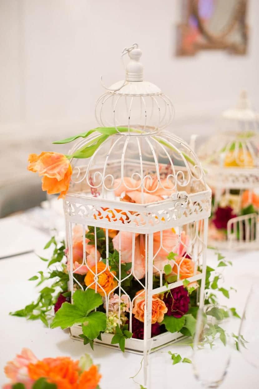 flores en jaula