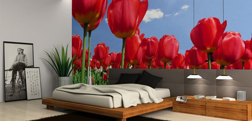 Fotomurales con flores