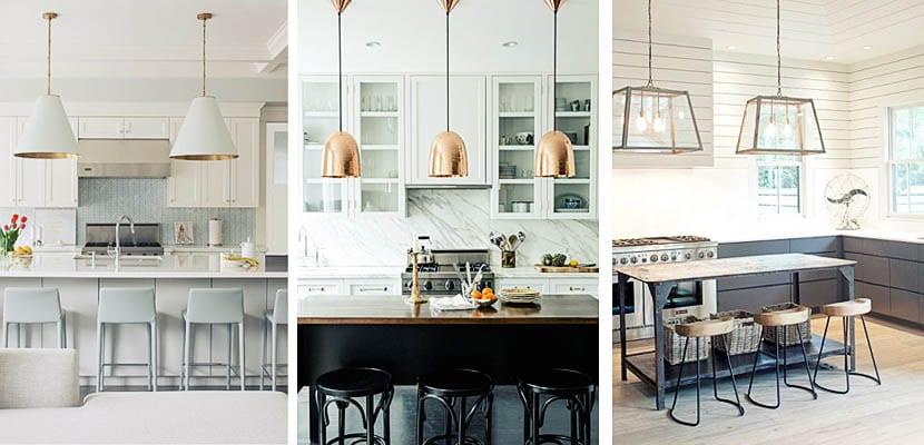 S is l mparas colgantes para decorar la cocina - Lamparas para cocinas ...