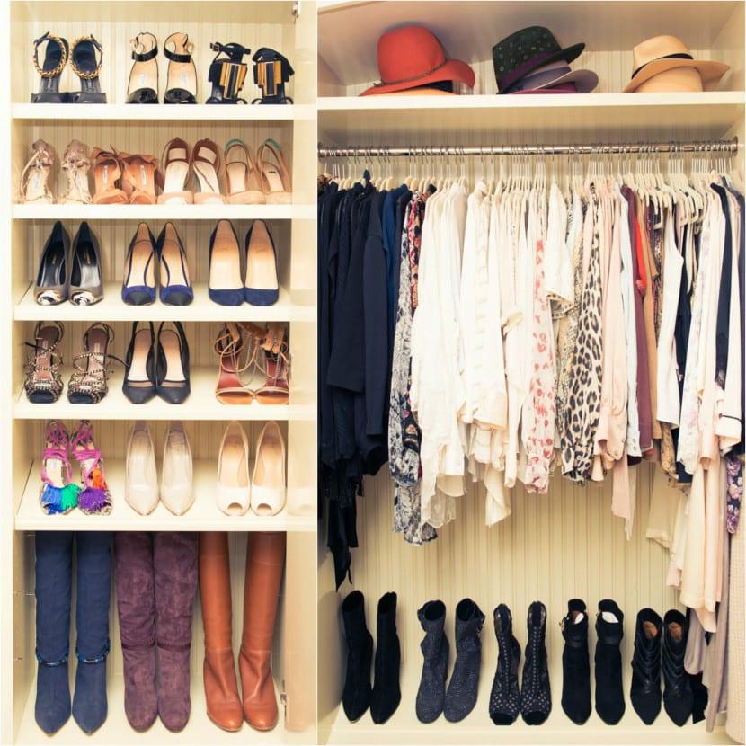 Aprende a organizar tu armario for Armario para zapatos