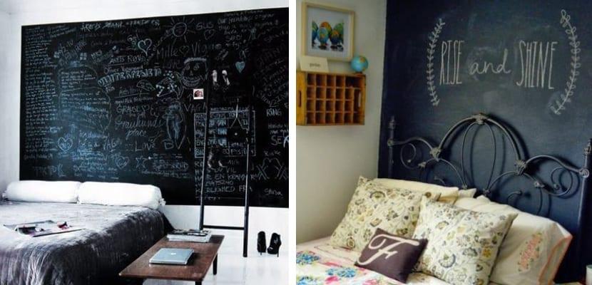 paredes de pizarra en el dormitorio - Pared Pizarra
