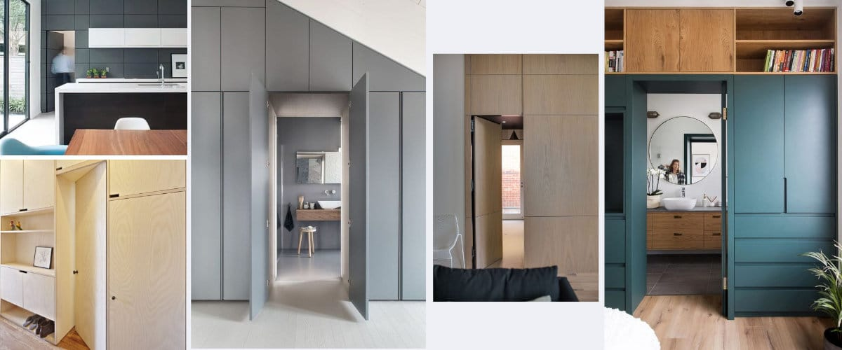 Escoge las puertas secretas para tus armarios