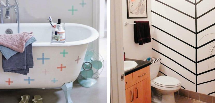 Washi tape para el baño
