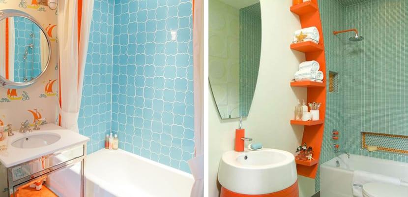 Ideas para un ba o naranja - Se puede cambiar el bano de sitio en un piso ...
