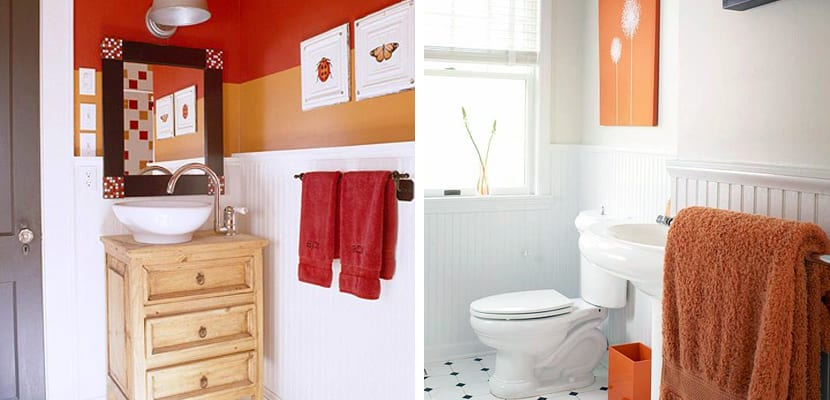 Ideas para un ba o naranja - Como hacer color naranja ...