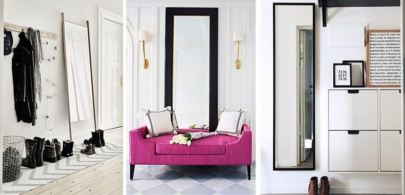 Elementos decorativos para el hogar de una mujer elegante for Espejos de pie para habitacion