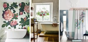 Flores cuarto de baño