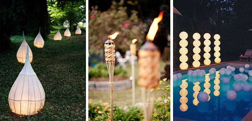 Iluminación fiesta jardín