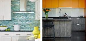 Frentes de cocina con mosaicos de cristal