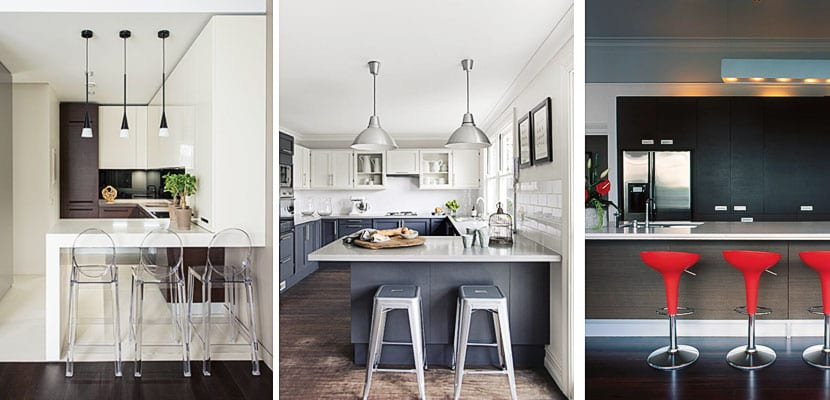 Diferentes taburetes para decorar la cocina - Banquetas de cocina ...