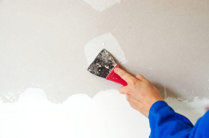 cómo arreglar las grietas de la pared