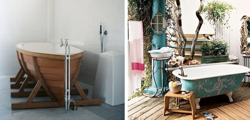Baño de estilo marinero