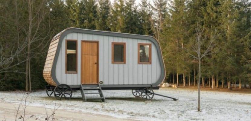 Caravana en madera