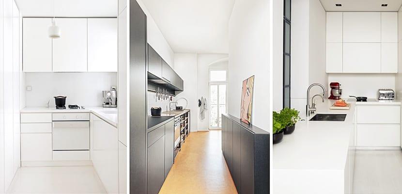 Ideas para organizar una cocina estrecha for Como distribuir los muebles de cocina