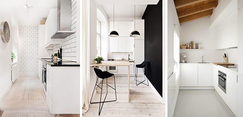 Ideas para organizar una cocina estrecha - Decorar una entrada estrecha ...