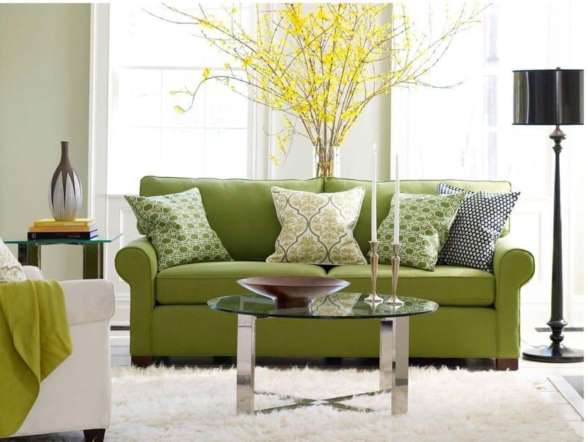 ideas para colocar los cojines en el sof