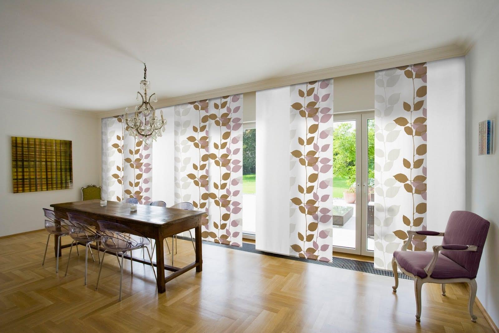 La belleza de las cortinas estampadas