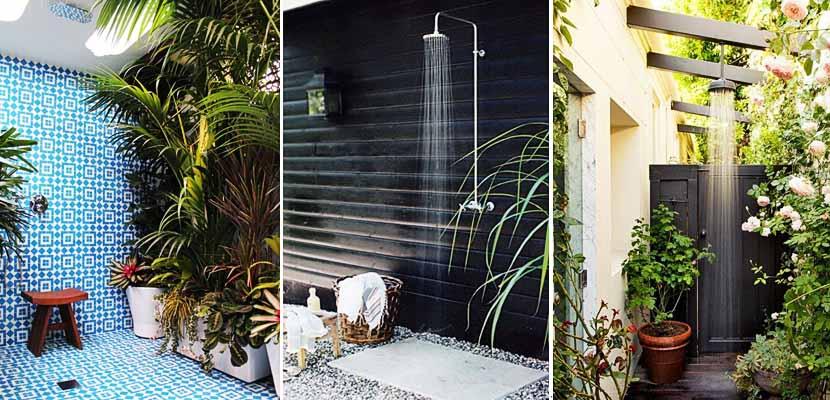 Combate el calor instalando una ducha en el jard n for Duchas para piscinas exterior