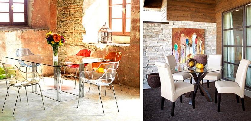 Decora el comedor con mesas de cristal for Mesa de comedor elegante lamentable