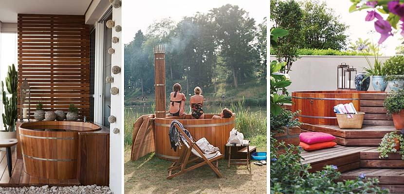 Ofuro, el tradicional baño japonés en tu jardín