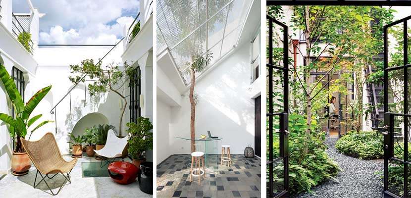Patios interiores una ventana al exterior for Patio con jardin pequeno